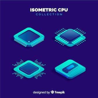Isometrische cpu-verzameling