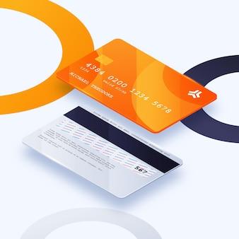 Isometrische creditcard