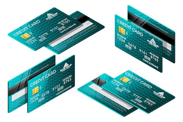 Isometrische creditcardverzameling