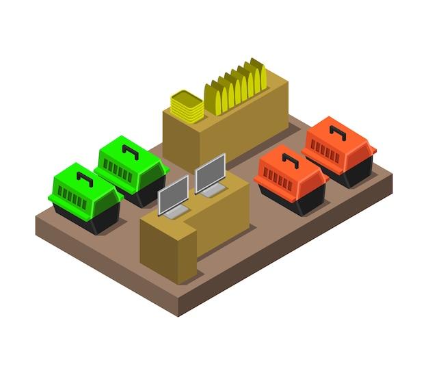 Isometrische dierenwinkel