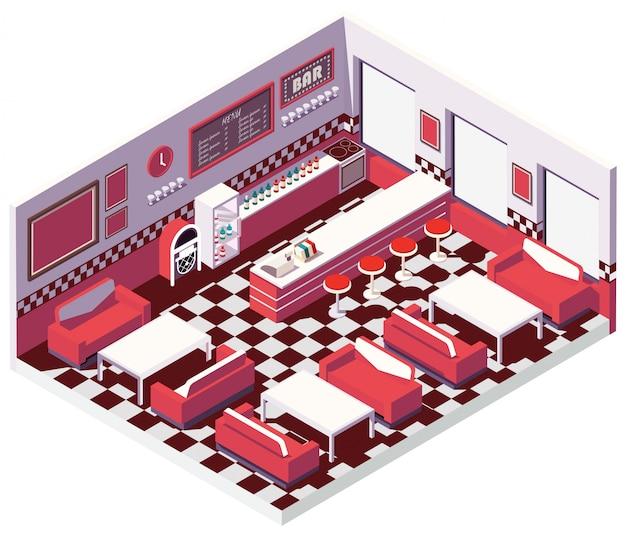Isometrische diner retro