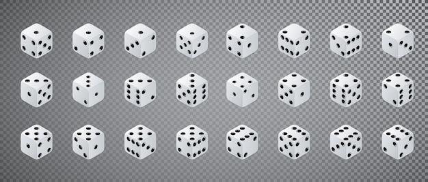 Isometrische dobbelstenen set