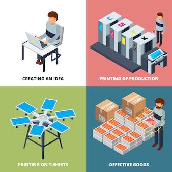 Isometrische drukkerij, printer laser gekleurde copier plotter offset digitale inkjet machines 3d
