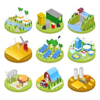 Isometrische ecologie concept