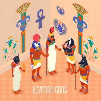 Isometrische egypte illustratie