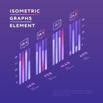 Isometrische elementen van grafische presentatie