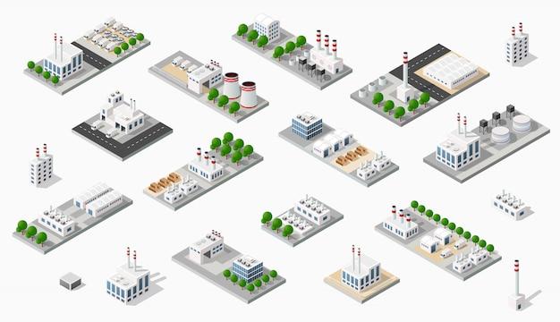 Isometrische fabriek in 3d-dimensie