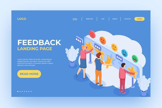 Isometrische feedback-bestemmingspagina