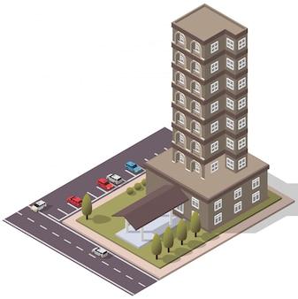 Isometrische flats appartement
