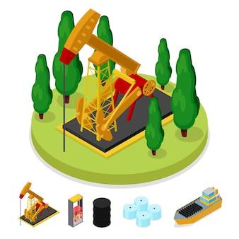 Isometrische gas- en olie-industrie