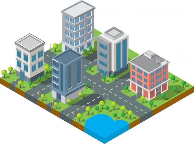 Isometrische gebouw vector