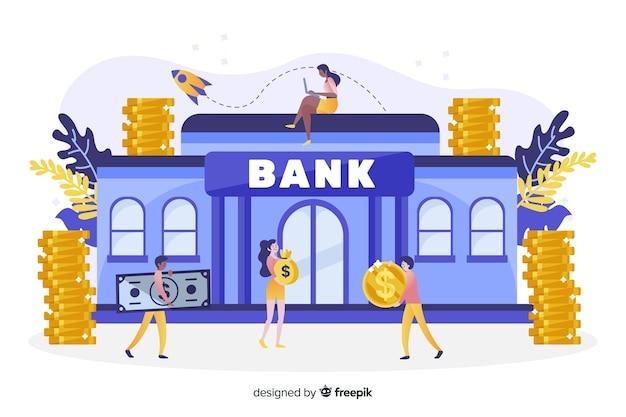 Isometrische geldbesparende concept achtergrond