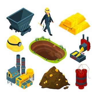 Isometrische gereedschappen voor mijnbouw