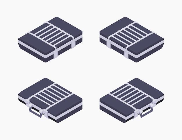 Isometrische gesloten koffer