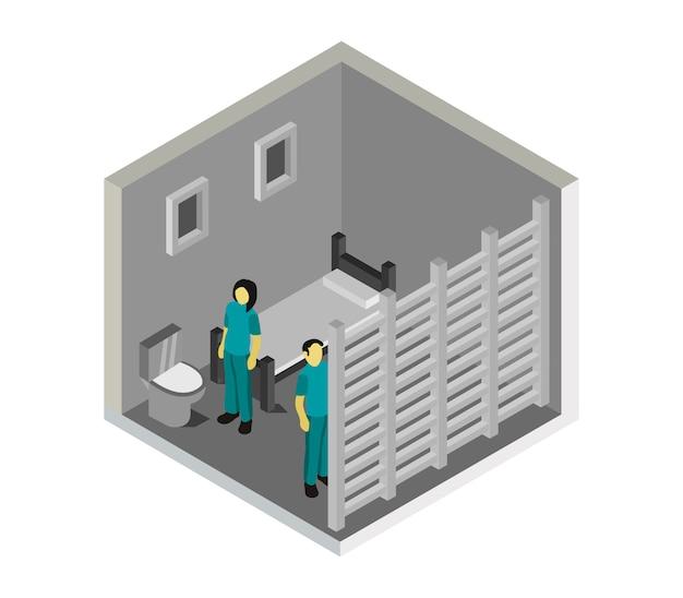 Isometrische gevangeniskamer