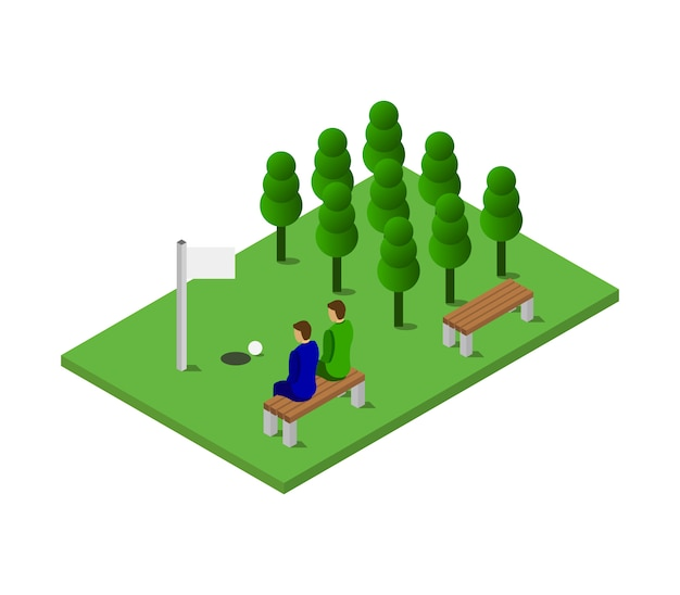 Isometrische golf