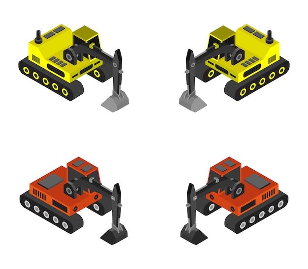 Isometrische graafmachine set