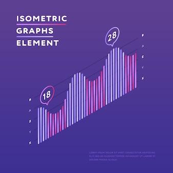 Isometrische grafiek met statistieken