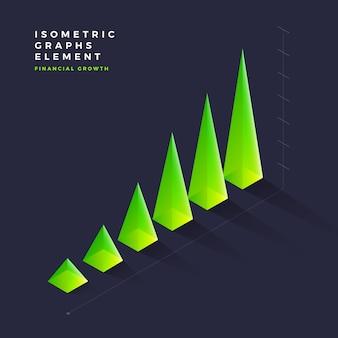 Isometrische grafiekelement