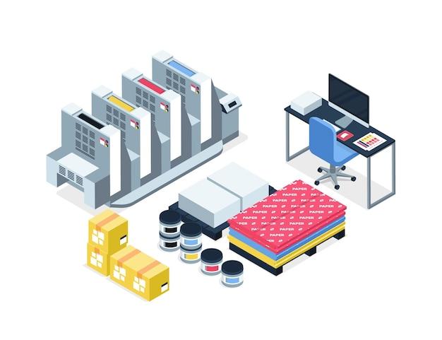 Isometrische grafische industrie illustratie