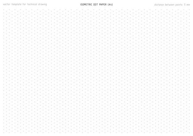 Isometrische grijze stippapier voor technische ontwerptekening