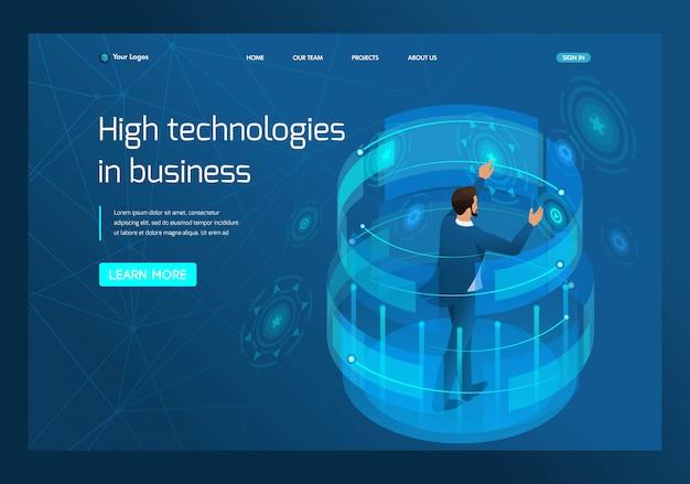 Isometrische hoogwaardige technologie in het bedrijfsleven