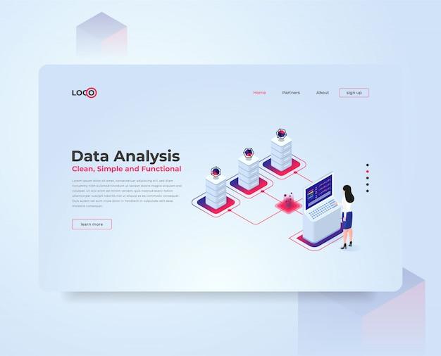 Isometrische illustratie data-analyse