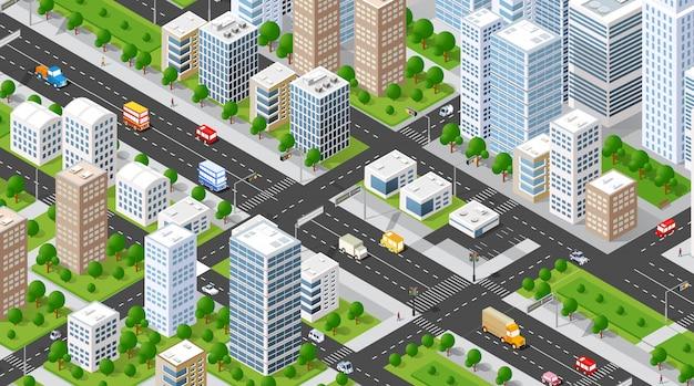 Isometrische illustratie stad