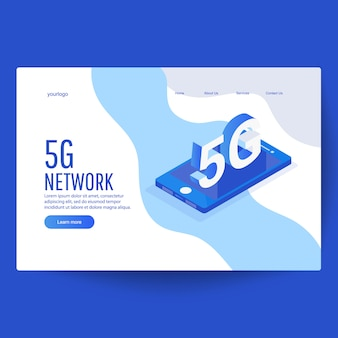 Isometrische illustratie van netwerksysteemtechnologie concept