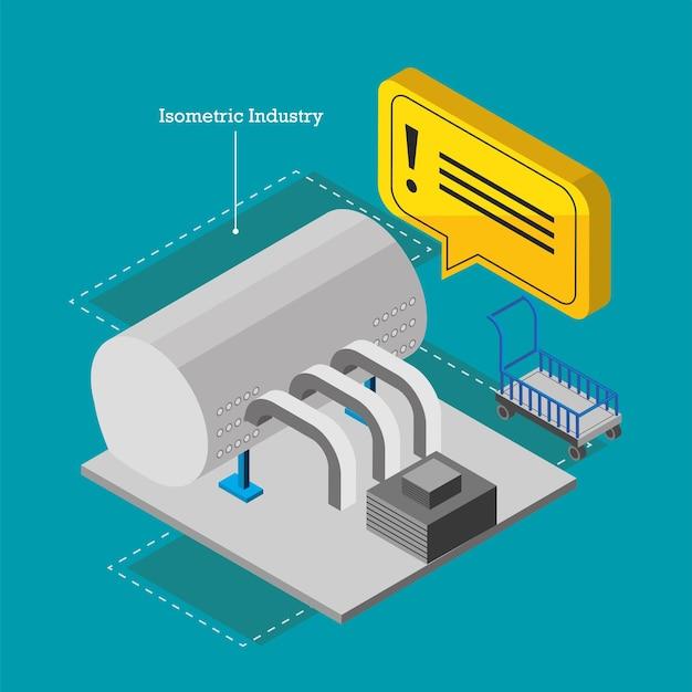 Isometrische industrietank