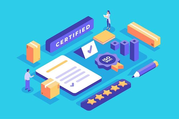 Isometrische iso-certificering concept