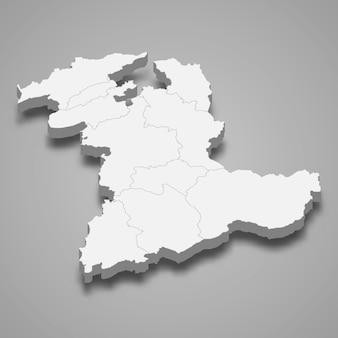 Isometrische kaart van bern is een kanton van zwitserland