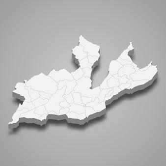 Isometrische kaart van genève geïsoleerd op grijs