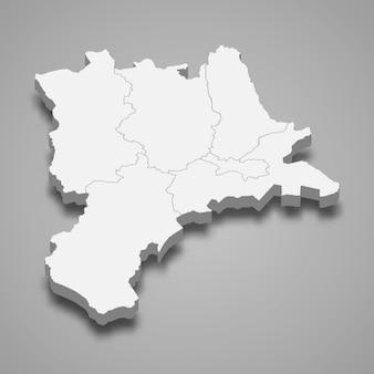 Isometrische kaart van luzern is een kanton van zwitserland