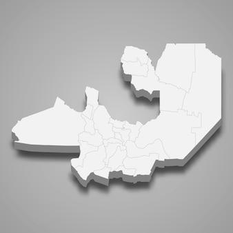 Isometrische kaart van salta is een provincie van argentinië