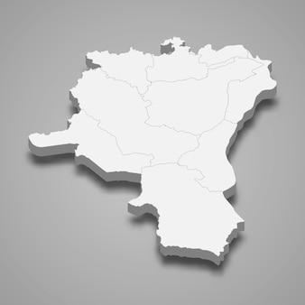 Isometrische kaart van st. gallen is een kanton van zwitserland