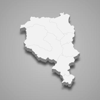 Isometrische kaart van ticino is een kanton van zwitserland