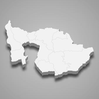 Isometrische kaart van zug is een kanton van zwitserland