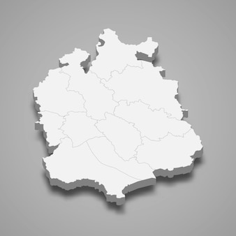 Isometrische kaart van zürich is een kanton van zwitserland