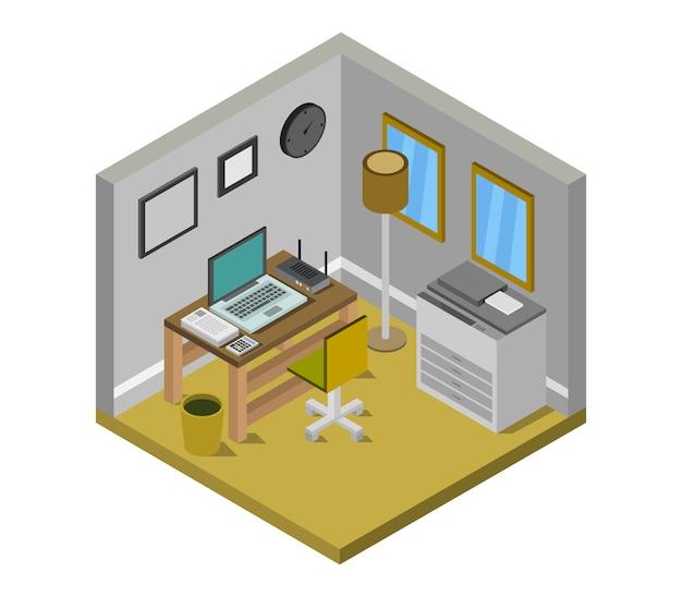 Isometrische kantoor