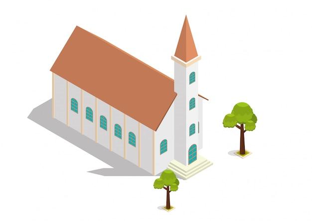 Isometrische kerkgebouw