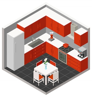 Isometrische keuken
