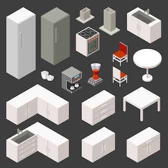 Isometrische keukenset