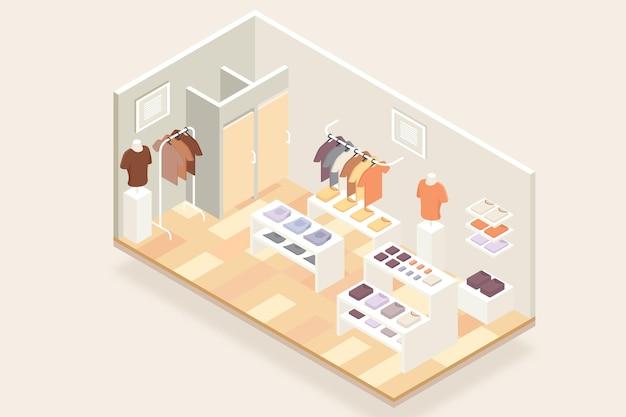 Isometrische kledingwinkel