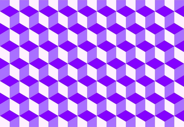 Isometrische kleurrijke kubus patroon achtergrond. vector illustratie
