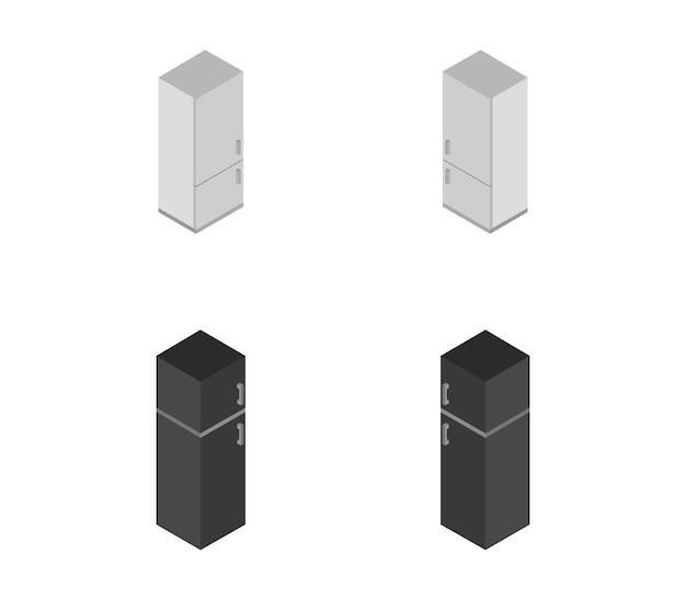 Isometrische koelkast set