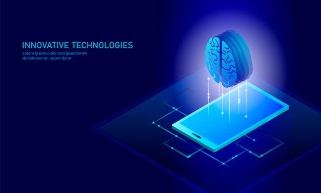 Isometrische kunstmatige intelligentie bedrijfsachtergrond