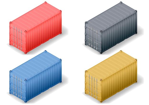 Isometrische lading container set