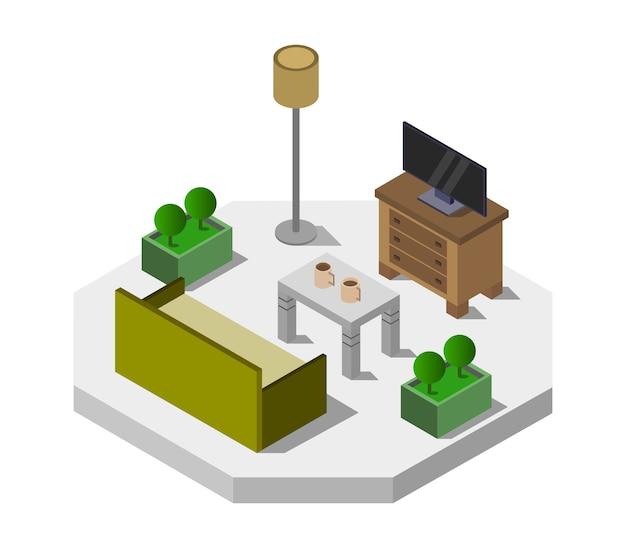 Isometrische lounge