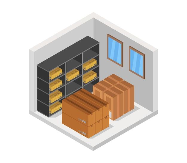 Isometrische magazijn